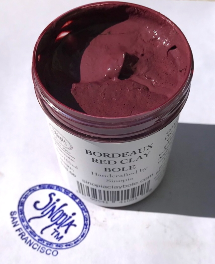 Iconography Supplies - Bordeaux Red Gilding Clay Bole